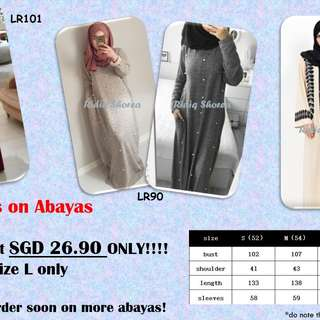 HOT!!! Abayas on SALE *price reduced