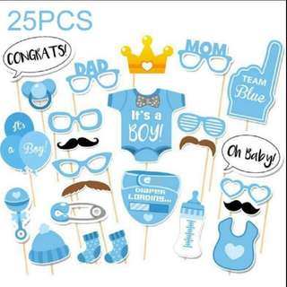 Party Props - DIY Baby Shower Photobooth Props - Boy