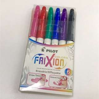 (New) 香港絶版貨 Pilot Frixion Colors Erasable Marker - 6 Color Set