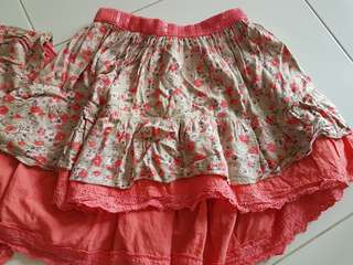 2pcs for $10 pumpkin patch skirt (kids)