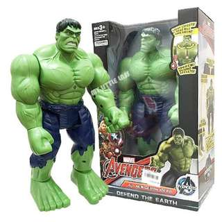 Electronic Walking Hulk Action Figure With Moving Head LED & Sounds 30cm