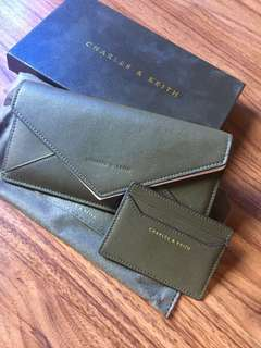 Olive Wallet with Card Holder