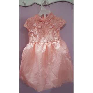 Pink Tutu Cheongsam (Size suitable for 2-3yo)