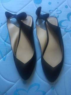 Black doll shoes sling back