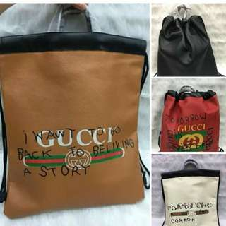 Gucci Unique Drawstring Backpack