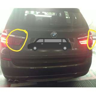 BMW X3 F25 rear tail LED light bars problem