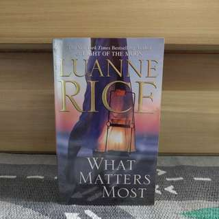 {preloved book} What Matters Most by Luanne Rice