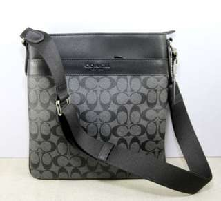 Coach Charles Men's PVC Signature Leather Crossbody Bag-CHARCOAL/BLACK