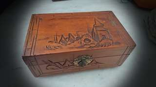 Old small camphor wood box