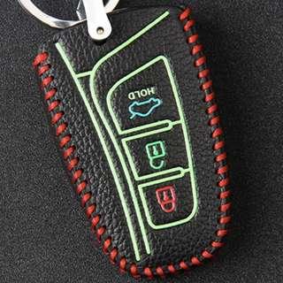 Hyundai Type E Car Key Leather Pouch w/glow