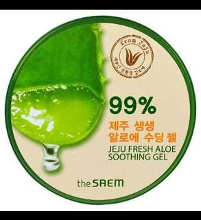 The saem 99% jeju aloe fresh soothing gel