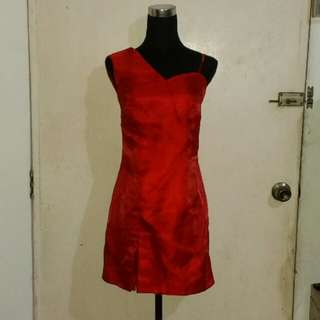 Customized Red Dress