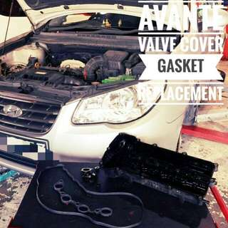 Hyundai Avante : Engine_Valve_Gasket replacement