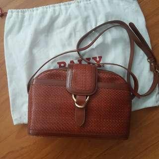 NEW Bally Woven Brown Bag