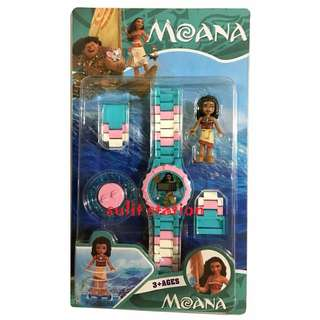 MOANA LEGO LIKE with MINIFIGURE DIGITAL KIDS WATCH