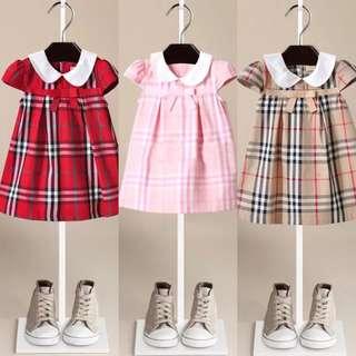 2018 British Skirt Summer Bow Lapel Cotton Girl Dress