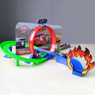 Super Racer Speed Up Racking Track with launcher and fire circle
