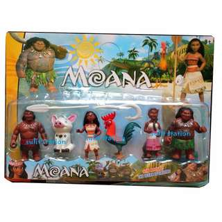 MOANA TOY FIGURES CAKE TOPPER
