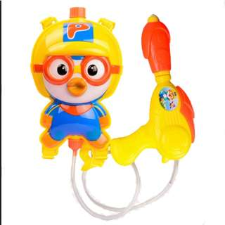 Pororo Water Gun Powerful Backpack Water Gun Outdoor Beach