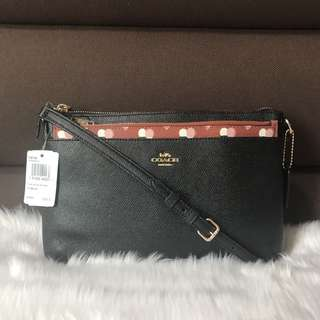 Coach East West Crossbody with Pop Up Heart Print Pouch F26149