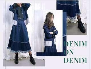 Rococo denim skirt 流蘇牛仔裙