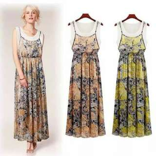 Summer two layer maxi dress