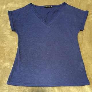 Zalora Blue T-shirt
