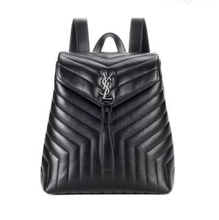 Pre-Order Saint Laurent Loulou Medium Monogram leather backpack