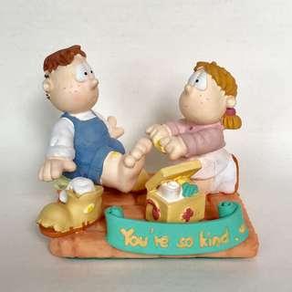 "Eva & Adam figurine ""You're so kind"" 擺設"