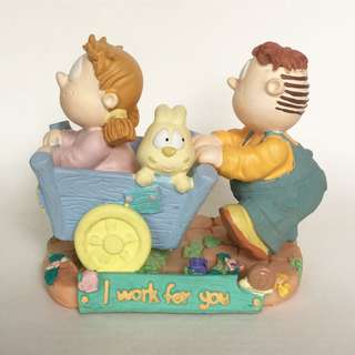"Eva & Adam figurine ""I work for you"" 擺設"