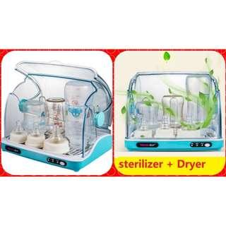 dryer+sterilizer Baby Bottle holder storage Sterilizer With Drying UV Baby Sterilizer Dryer+ sterilizer+warm