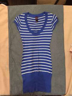 Lee Blue and White Striped Dress