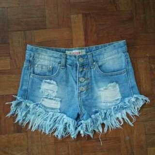 Women's Highwaist Denim Shorts