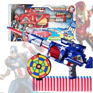Avengers Captain America Soft Bullet Super Blaster