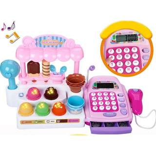 Funny Shop Ice-Cream Store Cash Register Playset Light+Sound Excellent Quality!