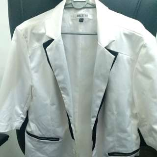 (CLEAR STOCKS) White Premium Vest/Suit for Dinner