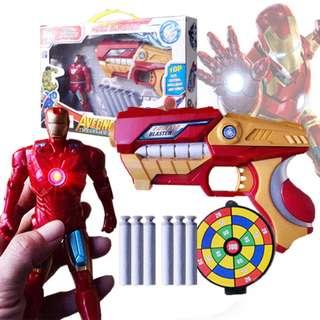 Superhero Ironman Soft Bullet Blaster