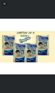 Mamypoko tape L40 XL34 diapers