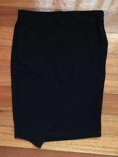 Zara Body Con Ribbed Skirt