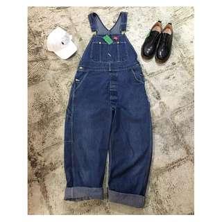 『誰合普UHF®』 日本Dickies古著牛仔吊帶長褲 藍色5 男女皆可 限量 (網路特賣$1900)起標價=直購價