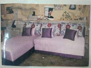 Promo tanpa dp Sofa L bed hanya bayar admin 199 rb