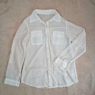 White Women's Longsleeved Dress Shirt