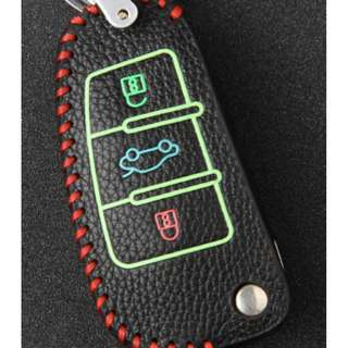 Audi Type A Car Key Leather Pouch w/glow