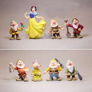 Princess Snow White And Seven Dwarfs Action Figure Toy 8Pcs Cake topper
