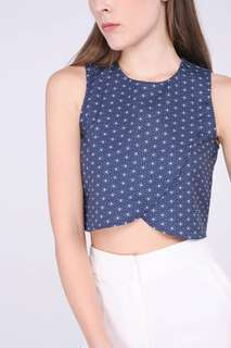 Runway Bandits Sashiko Crop Top