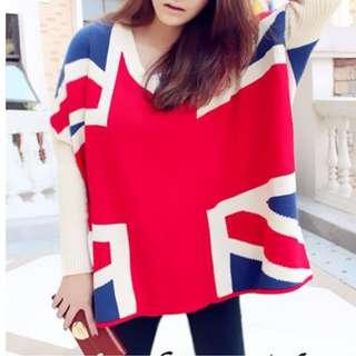 Oversized Union Jack Sweater