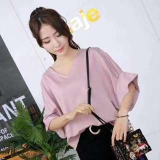 韓版夏季新款蝙蝠袖上衣