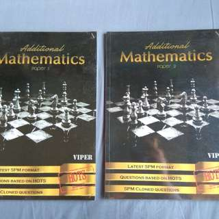 SPM Additional Mathematics Excersice Books