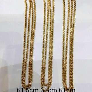 916 Gold Necklace rope design 61cm
