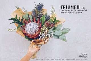 Graduation / Convocation Flower Bouquet - Triumph
